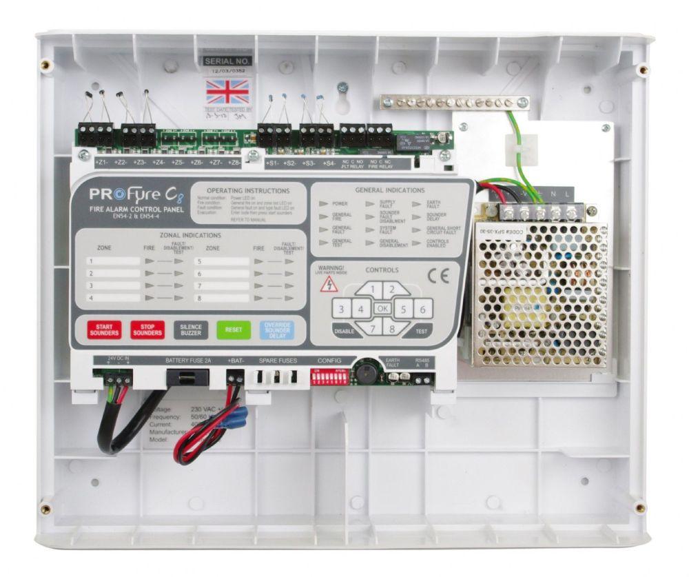 medium resolution of  in8 zeta infinity 8 zone conventional fire alarm panel